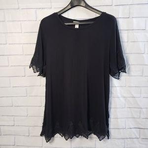 Ava & Viv plus size tee shirt decorative sleeves
